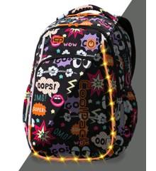 Coolpack - Skoletaske med LED-belysning - Comics