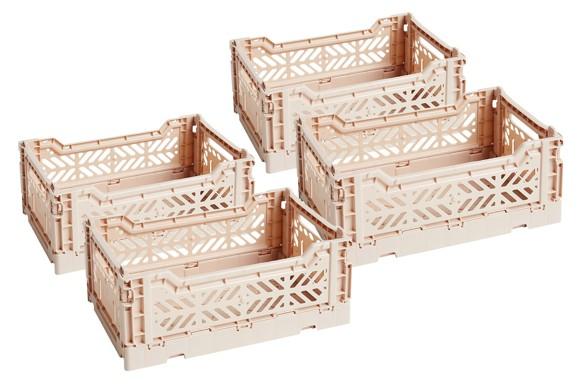 HAY - Colour Crate Kasse Sæt á 4 - Nude