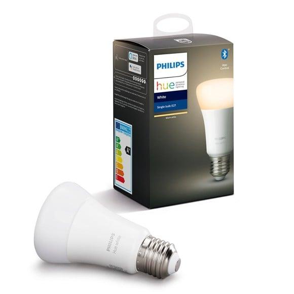 Philips Hue - E27 Single Bulb - Warm White - Bluetooth