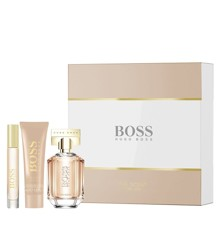 Hugo Boss - The Scent For Her EDP 50 ml + Body Lotion 50 ml + Portable Spray 7.4 ml - Gavesæt