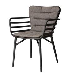 Cinas - 4 x Wifi Garden Chair incl. cushion - Anthracite Aluminium (3613133)