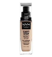NYX Professional Makeup - Can't Stop Won't Stop Foundation - Alabaster