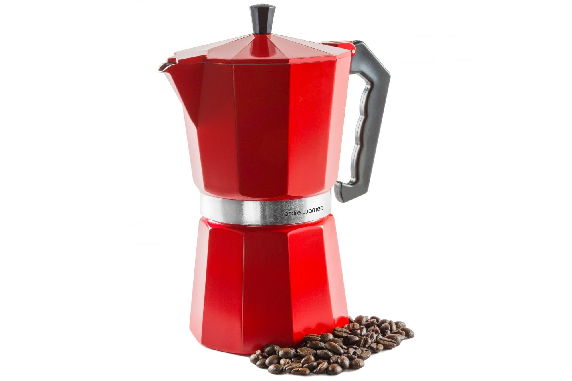 Buy Andrew James Red 9 Cup Espresso Coffee Percolator Moka Pot