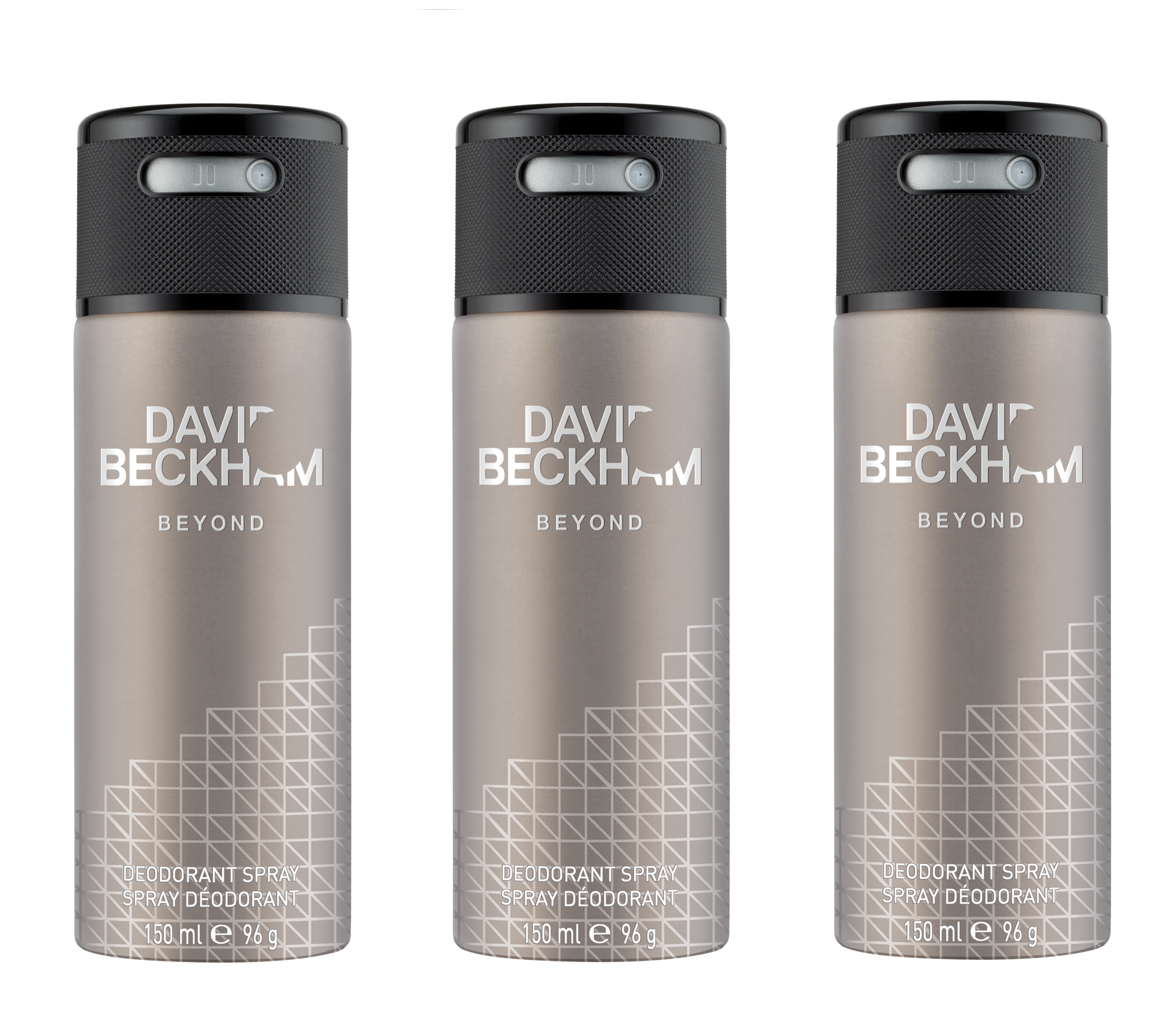 David Beckham - 3x Beyond Deodorant Spray 150 ml