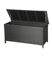 Living Outdoor - Victor Cushion Box With Wheel 133 x 55 cm - Black (629983)
