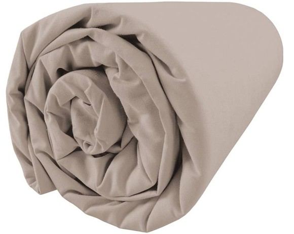 Fitted Douce Nuit Taupe 140x200cm