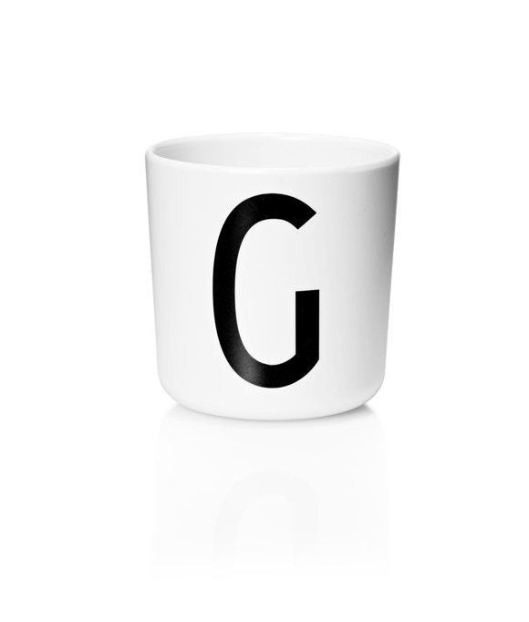 Design Letters - Personal Melamine Cup G - White (20201000G)