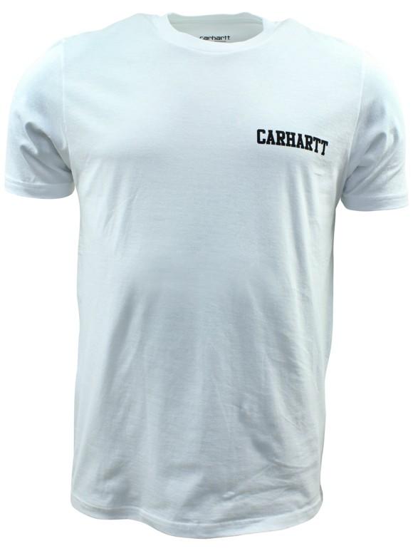 Carhartt 'College Script' T-shirt - White / Black