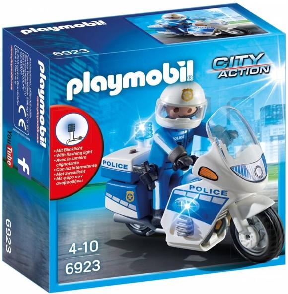 Playmobil - Police Bike with LED Light (6923)
