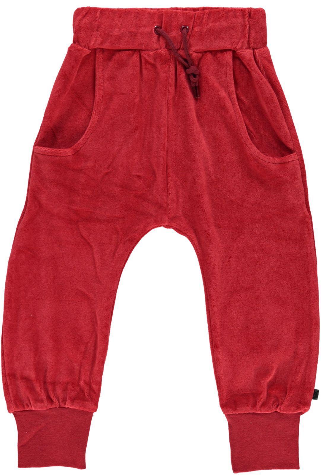 Småfolk - Velvet Pants - Dark Red