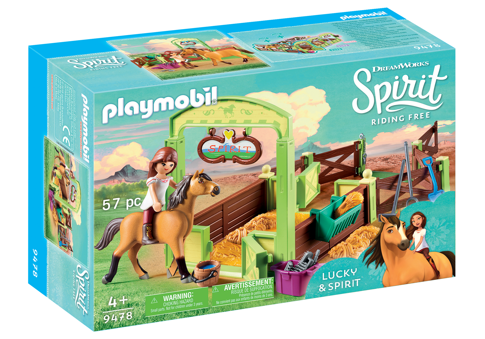 coolshop.co.uk - Playmobil – Horse Box – Lucky & Spirit (9478)