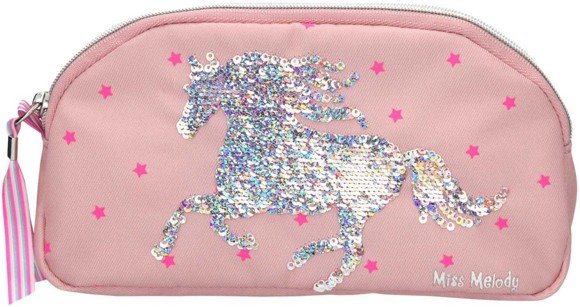 Miss Melody - Pencil Case with Sequins - Pink (0010285)
