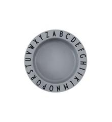 Design Letters - Eat & Learn Dyb Tallerken Tritan - Cool Grå