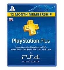 PSN Plus Card 12m Subscription UK (PS3/PS4/Vita)