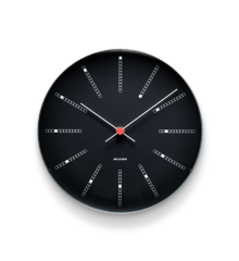 Arne Jacobsen - Bankers Wall Clock Ø 29 cm - Black (43646)