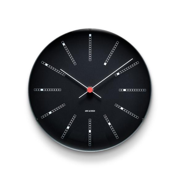 Arne Jacobsen - Bankers Wall Clock Ø 29 cm - Black (43646)