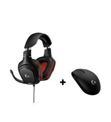 Logitech G332 Gaming Headset + Logitech G305 Trådløs Gamer Mus