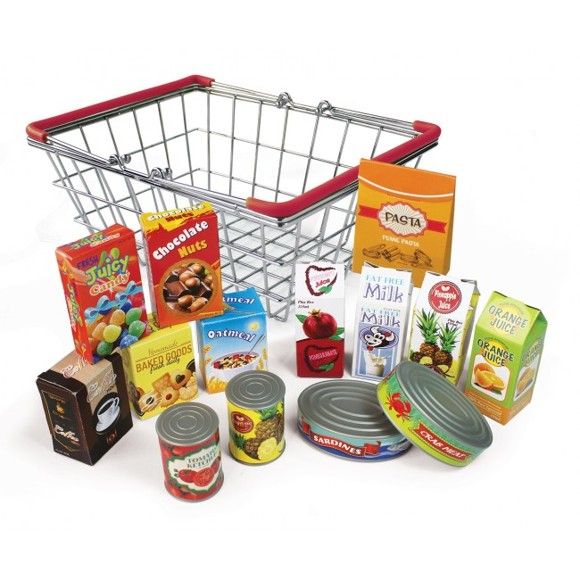 Magni - Play grocery in metal basket