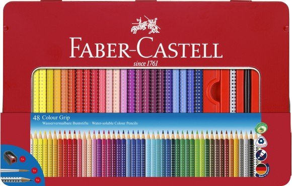 Faber-Castell - Colour Pencils - Metal Tin with Accessories - 48 pcs. (112448)
