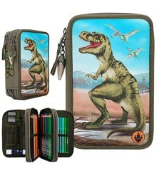Dino World - Trippel Pencil Case w/LED (0410642)