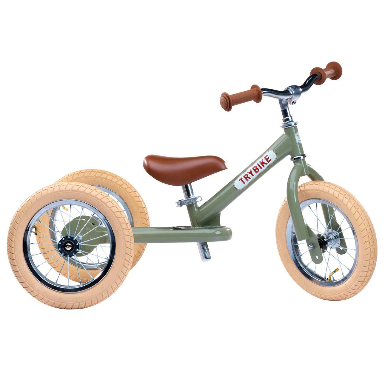 Trybike - 3 hjulet Løbecykel, Vintage grøn | løbecykel og løbehjul