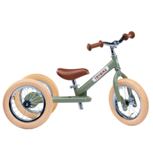 Trybike - Dreirad Steel Laufrad, Vintage grün