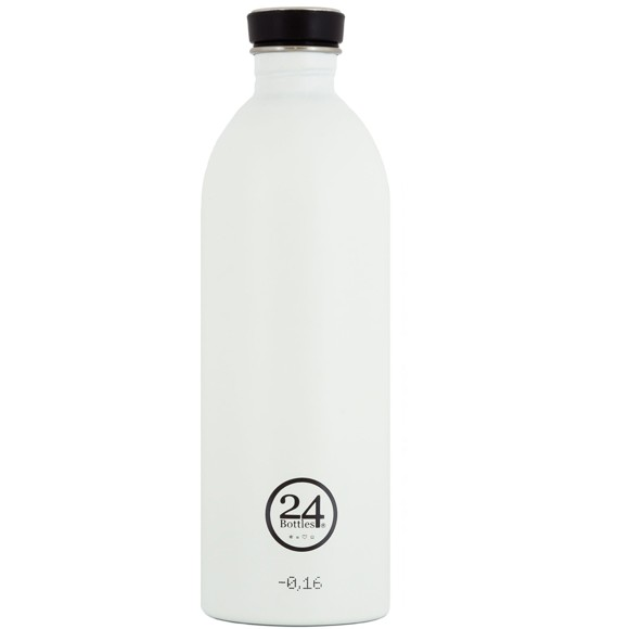 24 Bottles - Urban Bottle 1 L - Ice Hvid