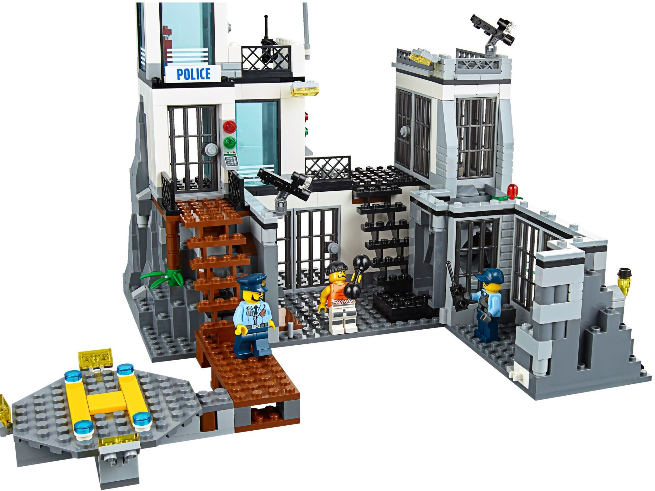 LEGO 60130 City Police Prison Island Building Toy 8-minifigures