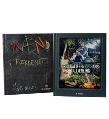 HOLM - Kogebøger 2 Stk. - Mænd i køkkenet / Grillkaliffen og hans lærling