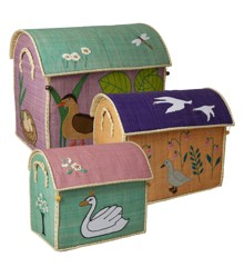 Rice - Large Set of 3 Toy Baskets with The Ugly Duckling Theme