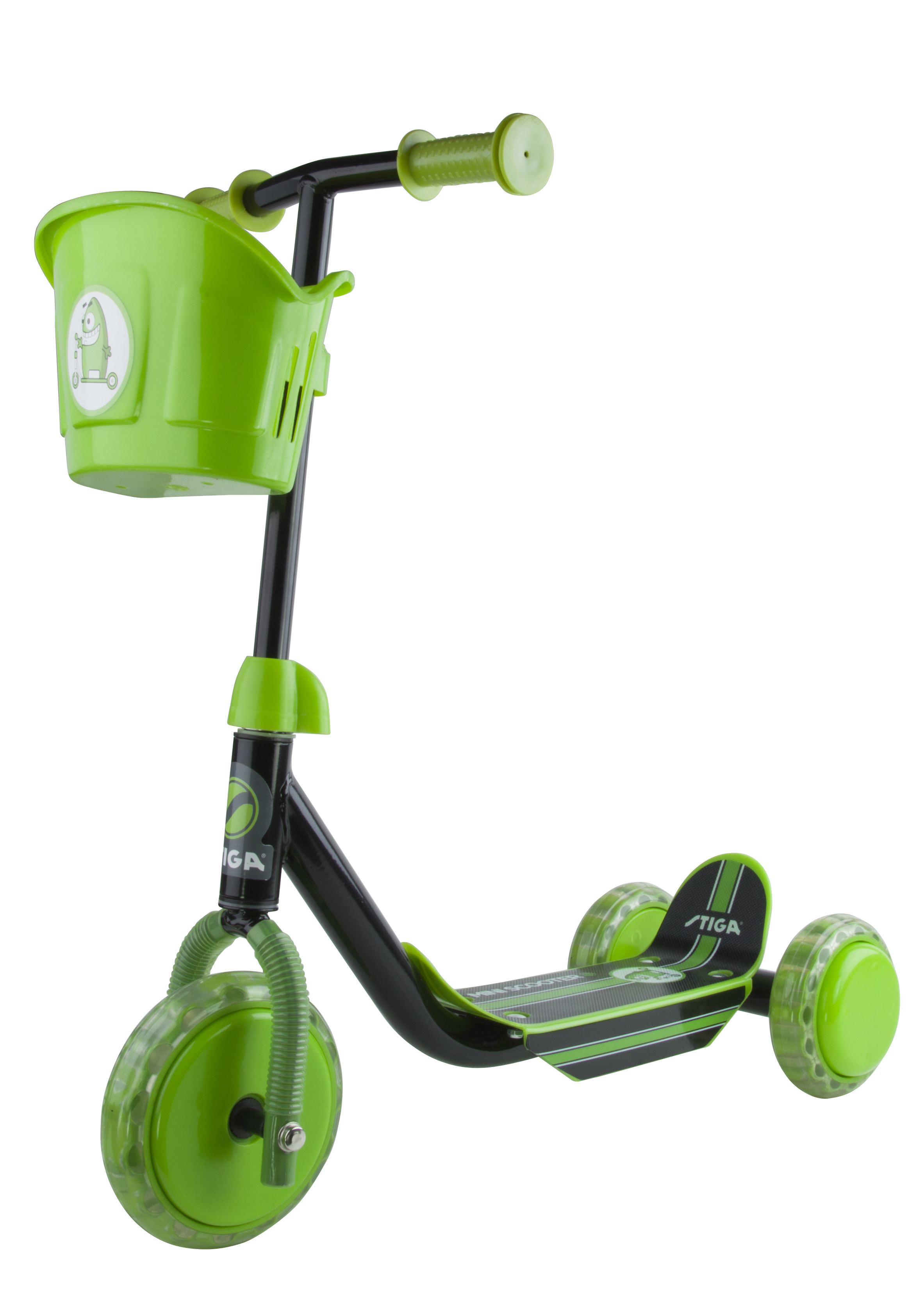 Stiga - Kid 3W Scooter - Black/Green (80-7401-19)
