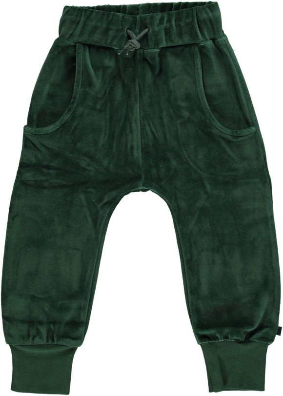 Småfolk - Velvet Pants - Hunter Green