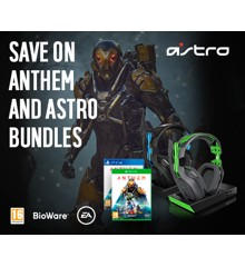 Astro - A10 Gaming Headset PS4+PC Grå/Blå Anthem Spil Bundle PS4