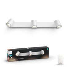 Philips Hue - Adore Bathroom 3-Spot Light - White Ambiance - E