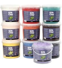 Silk Clay - 10 Farver (10 x 650 g)