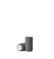 Lyngby Porcelæn - Vase 12 cm - Dark Grey (200862)