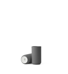 Lyngby Porcelæn - Vase 12 cm - Mørk Grå