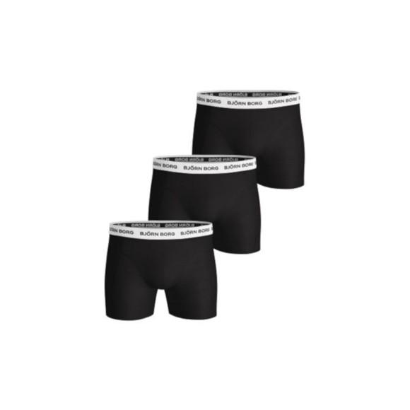 Björn Borg 3-Pack Boxer Shorts Contras Solids - Black