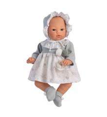 Asi dukker - Koke dukke i grå kjole, 36 cm