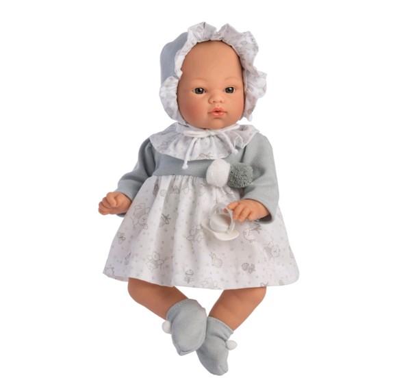 Asi - Koke dukke i grå kjole, 36 cm