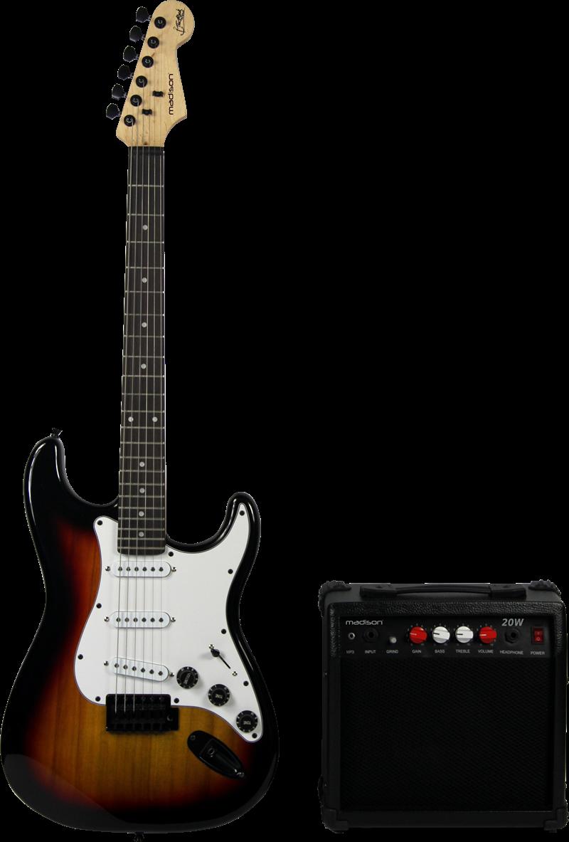 buy madison vintage electric guitar starter pack sunburst. Black Bedroom Furniture Sets. Home Design Ideas