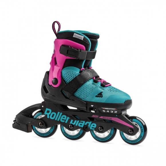 Rollerblade - Microblade - Pink/Emerald Green (Size 33-36,5) (07958100M)