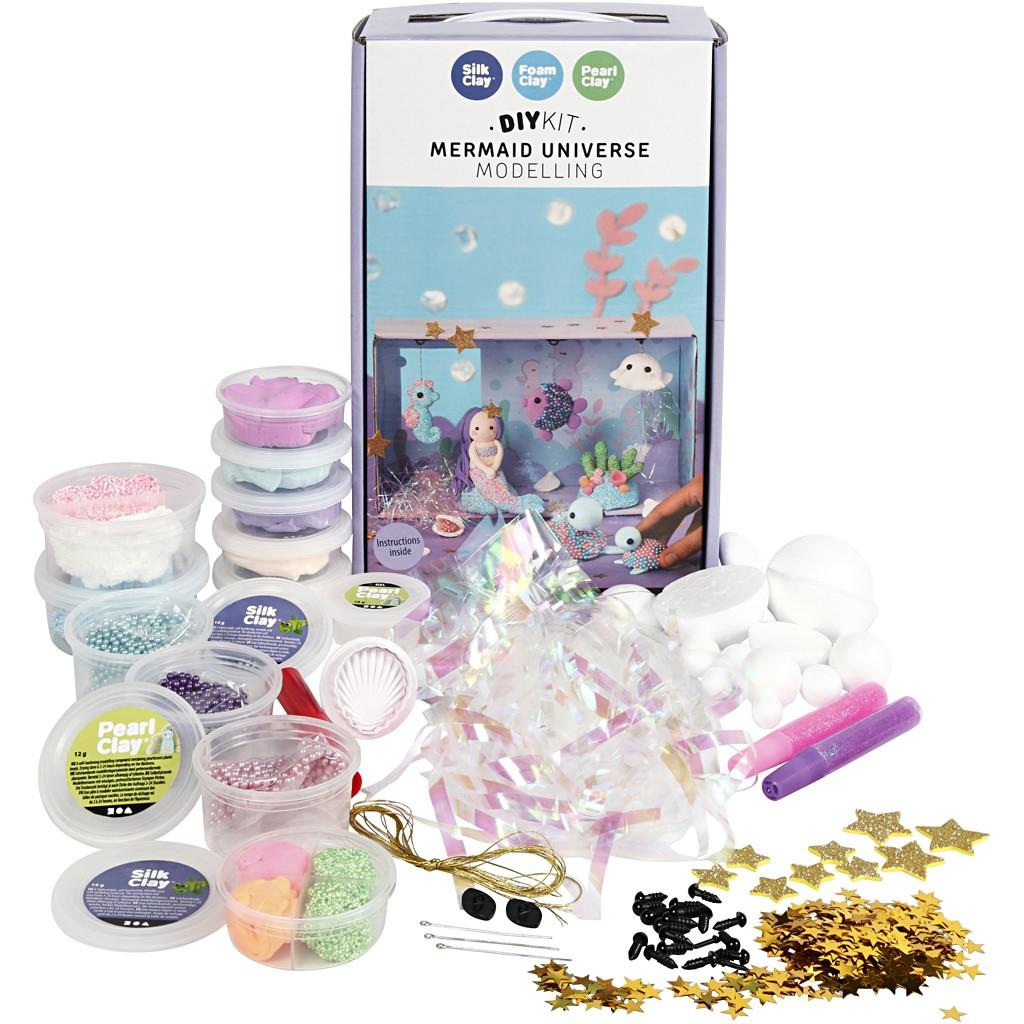 DIY Kit - Meerjungfrauen-Welt - Modellieren Set