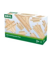 BRIO - Schienen- und Weichensortiment, 11 teile (33307)