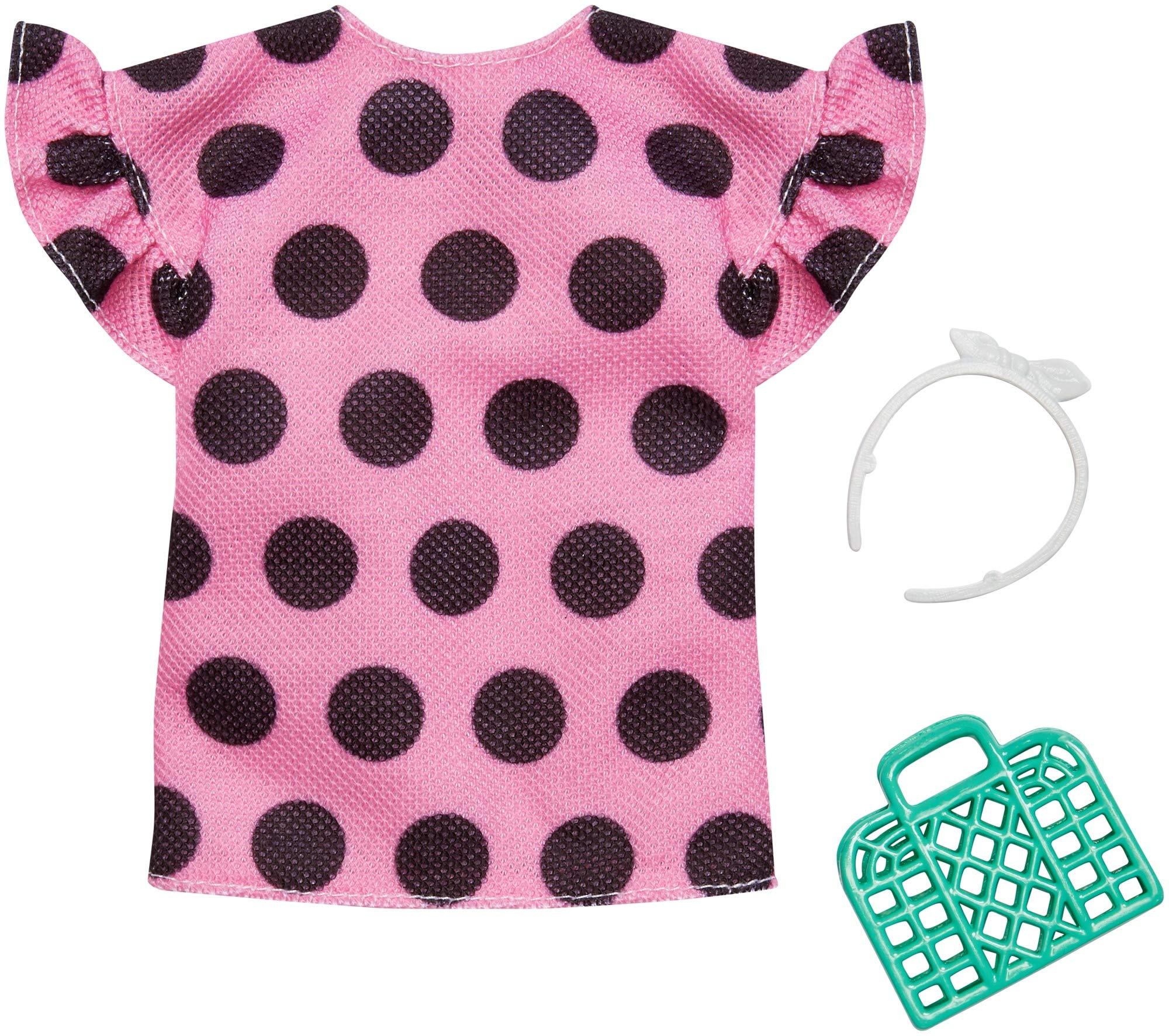 Barbie - Complete Looks - Pink Dotted Shirt And Accessory (FXJ13)