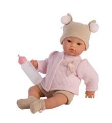 Asi - Koke dukke i strik og rosa jakke, 36 cm