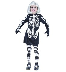 Skeleton Dress - Childrens Costume (Size 122-134) (94084-4)
