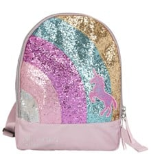 Ylvi & the Minimoomis - Small Bagpack with Rainbow and Glitter - Rose (0410644)