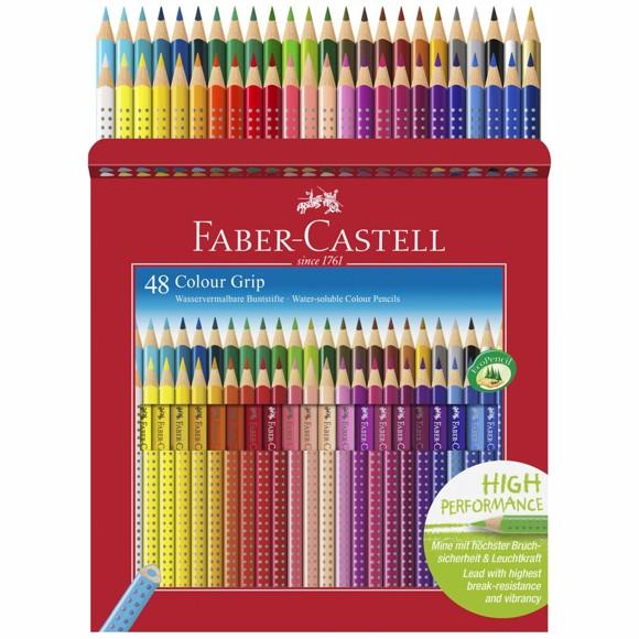 Faber-Castell - Colour Grip Farveblyanter - Æske med 48 stk.