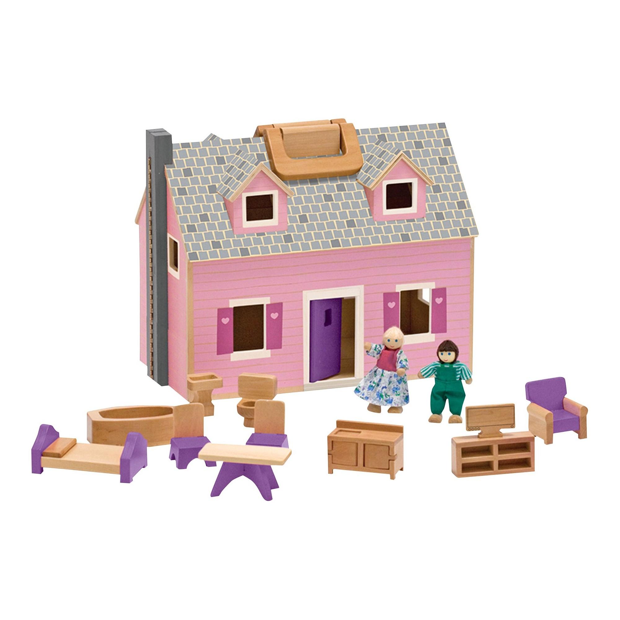 Melissa & Doug - Fold & Go Dollhouse (13701)